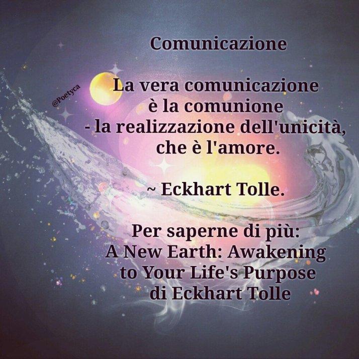Comunicazione Eckhart Tolle Tavolozza Di Vita